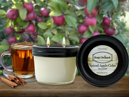 Spiced Apple Cider Double Wick Soy Candle