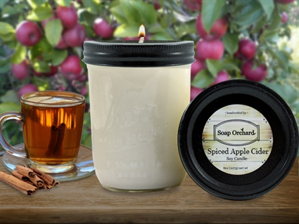 Spiced Apple Cider 16oz Jar Soy Candle