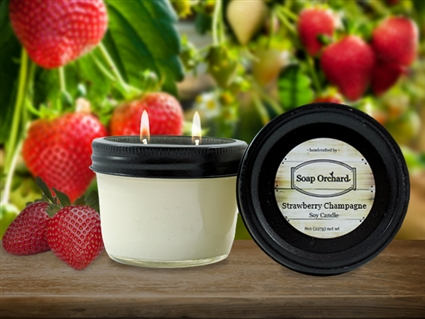Strawberry Champagne Double Wick Soy Candle