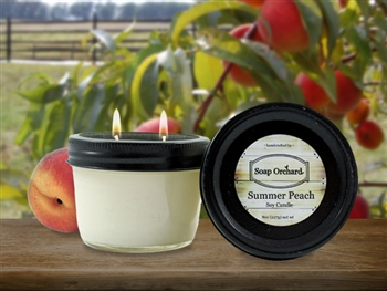 Summer Peach Double Wick Soy Candle
