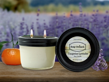 Tangerine Lavender Double Wick Soy Candle