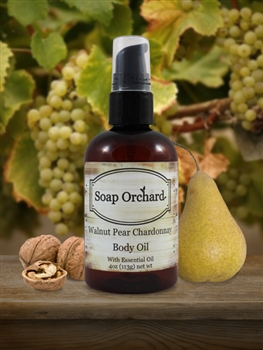 Walnut Pear Chardonnay Body Oil