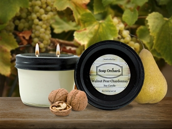 Walnut Pear Chardonnay Double Wick Soy Candle