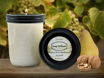 Walnut Pear Chardonnay 16oz Jar Soy Candle