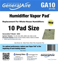 GENERALAire GA10 Replacement Vapor Pad for 570M, 570A, 500A, 550A