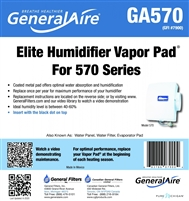GENERALAire GA570 (7900) Replacement Vapor Pad