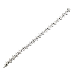 Marquise and Round Diamond Bracelet in 18K White Gold