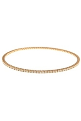 ROUND DIAMOND BANGLE IN 18K YELLOW GOLD