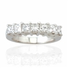 PRINCESS CUT DIAMOND BAND IN 18K WHITE GOLD