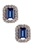 DIAMOND AND SAPPHIRE EARRINGS