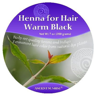 Ancient Sunrise  Henna for Hair Warm Black Kit (Sample)