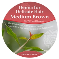 Henna for Delicate Hair Medium Brunette Kit