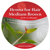 Sample Henna for hair Medium Brunette Kit