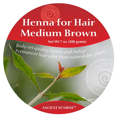 Ancient Sunrise  Henna for Hair Medium Brunette Kit (Sample)