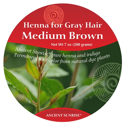 Ancient Sunrise Henna for Gray Hair Medium Brunette Kit (Sample)