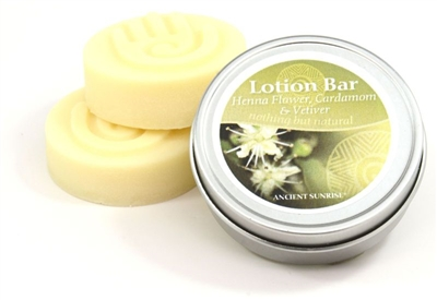 Henna Flower, Cardamom and Vetiver lotion bar