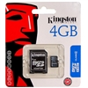 Kingston 4GB Micro Memory SD Card w/Adapter