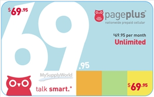 Page Plus Unlimited Talk/Text/Data, Fully Unlimited 4G LTE, Monthly Plan Refill