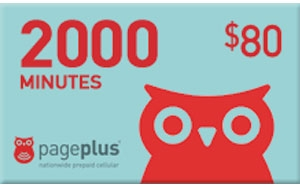 Page Plus 2000 Minutes Instant Refill Card 365 Days