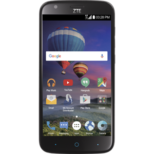 ZTE ZMAX Champ 4G LTE - Black For Page Plus White