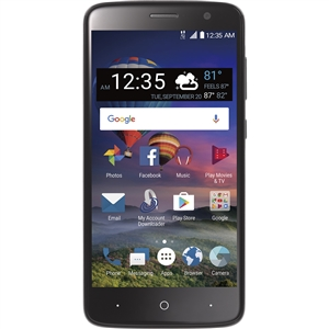 ZTE ZMAX One 4G LTE - Black For Page Plus