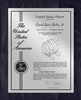 "Patent Plaques Custom Wall Hanging Contemporary Patent Plaque - 10.5 x 13"" Silver and Black."