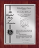 "Patent Plaques Custom Wall Hanging Contemporary Patent Plaque - 10.5"" x 13"" Silver and Cherry."