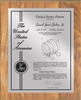 "Patent Plaques Custom Wall Hanging Contemporary Patent Plaque - 10.5"" x 13"" Silver and Oak."