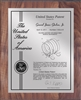 "Patent Plaques Custom Wall Hanging Contemporary Patent Plaque - 10.5"" x 13"" Silver and Walnut."