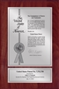 "Patent Plaques Custom Wall Hanging Contemporary Patent Plaque - 8"" x 12"" Silver and Cherry."