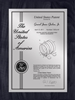 "Patent Plaques Custom Wall Hanging Contemporary Patent Plaque - 9"" x 12"" Silver and Black."