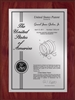"Patent Plaques Custom Wall Hanging Contemporary Patent Plaque - 9"" x 12"" Silver and Cherry."