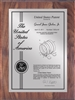 "Patent Plaques Custom Wall Hanging Contemporary Patent Plaque - 9"" x 12"" Silver and Walnut."