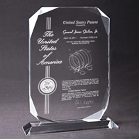Patent Plaques Custom Desktop Contemporary Diamond Patent Award.