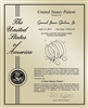 "Patent Plaques Custom Wall Hanging Contemporary Metal Patent Presentation Plate - 10"" x 13"" Gold."