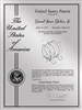 "Patent Plaques Custom Wall Hanging Contemporary Metal Patent Presentation Plate - 9"" x 12"" Silver."