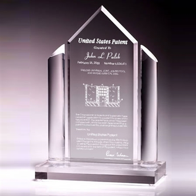 Patent Plaques Custom Desktop Contemporary Patent Award.