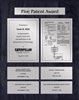 Patent Plaques Custom Wall Hanging 5-Series Patent Plaque - Silver on Black.