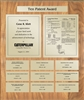 Patent Plaques Custom Wall Hanging 10-Series Patent Plaque - Gold on Oak.