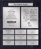Patent Plaques Custom Wall Hanging 10-Series Patent Plaque - Silver on Black.