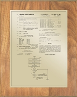 "Patent Plaques Custom Wall Hanging Traditional Patent Plaque - 8"" x 10"" Gold and Oak."