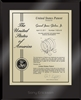 "Patent Plaques Custom Wall Hanging Ultramodern Contemporary Patent Plaque - 10.5"" x 13"" Gold and Black Acrylic."
