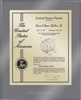 "Patent Plaques Custom Wall Hanging Ultramodern Contemporary Patent Plaque - 10.5"" x 13"" Gold and Translucent Grey Acrylic."