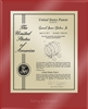 "Patent Plaques Custom Wall Hanging Ultramodern Contemporary Patent Plaque - 10.5"" x 13"" Gold and Red Acrylic."