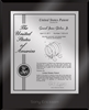 "Patent Plaques Custom Wall Hanging Ultramodern Contemporary Patent Plaque - 10.5"" x 13"" Silver and Black Acrylic."