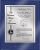 "Patent Plaques Custom Wall Hanging Ultramodern Contemporary Patent Plaque - 10.5"" x 13"" Silver and Blue Acrylic."
