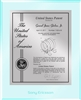 "Patent Plaques Custom Wall Hanging Ultramodern Contemporary Patent Plaque - 10.5"" x 13"" Silver and Clear Acrylic."