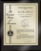 "Patent Plaques Custom Wall Hanging Ultramodern Contemporary Patent Plaque - 8"" x 10"" Gold and Black Acrylic."