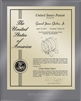 "Patent Plaques Custom Wall Hanging Ultramodern Contemporary Patent Plaque - 8"" x 10"" Gold and Translucent Grey Acrylic."
