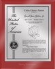 "Patent Plaques Custom Wall Hanging Ultramodern Contemporary Patent Plaque - 8"" x 10"" Silver and Red Acrylic."